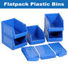 View Item Pack of 40 Flat Pack Blue Bins